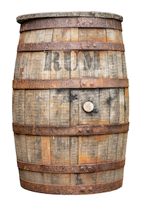 Vintage Wooden Rum Barrel